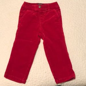E-Land Red Corduroys with stretch 2T